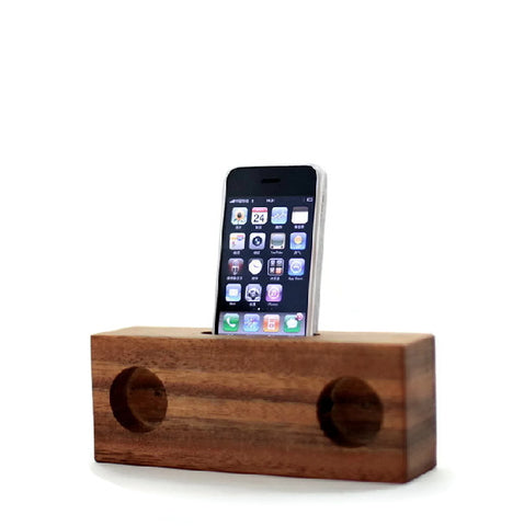 Wood iPhone Acoustic Amps Docking Station | Handcrafted Accessories