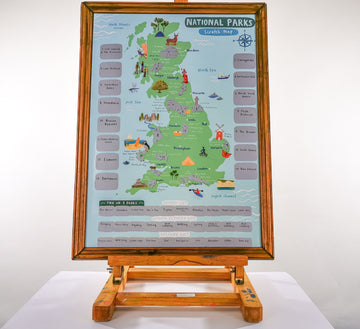 UK National Parks Scratch Map