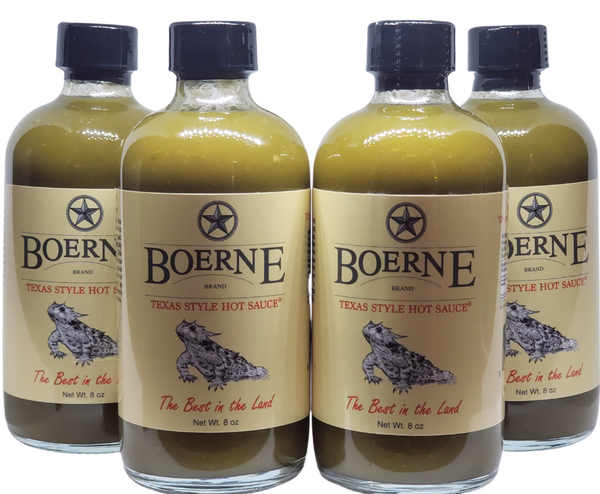 Boerne Brand Original Jalapeño Texas Style Hot Sauce, 4 pack