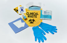 Load image into Gallery viewer, Biohazard Spill kit in wall mounted yellow satchel (Inc GST)