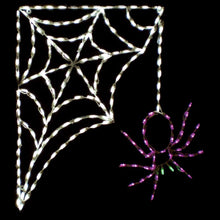 Load image into Gallery viewer, Halloween Spider on Corner Web
