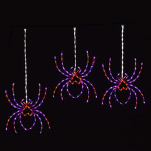 Load image into Gallery viewer, Halloween 3PK Spooky Spiders Hanging