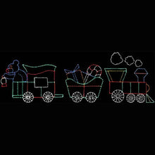 Load image into Gallery viewer, Animated Christmas Train LED Wireframe Decoration Motif