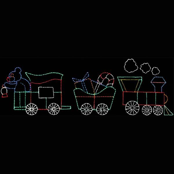 Animated Christmas Train LED Wireframe Decoration Motif