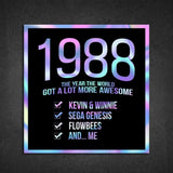 1988! Hologram Birth Year Sticker - Dan Pearce Sticker Shop