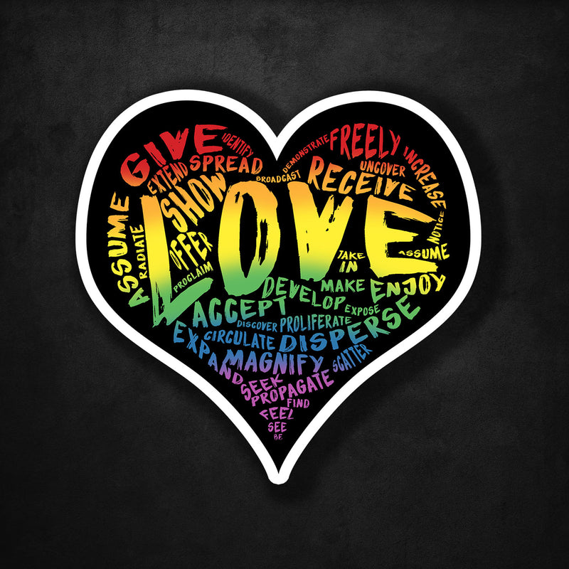 LOVE Sticker! (Original Rainbow Version)