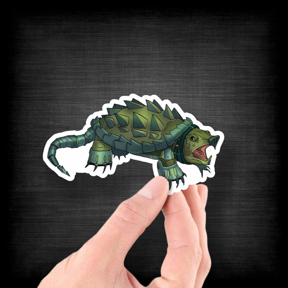 Alligator Snapping Turtle Robot - Vinyl Sticker - Dan Pearce Sticker Shop