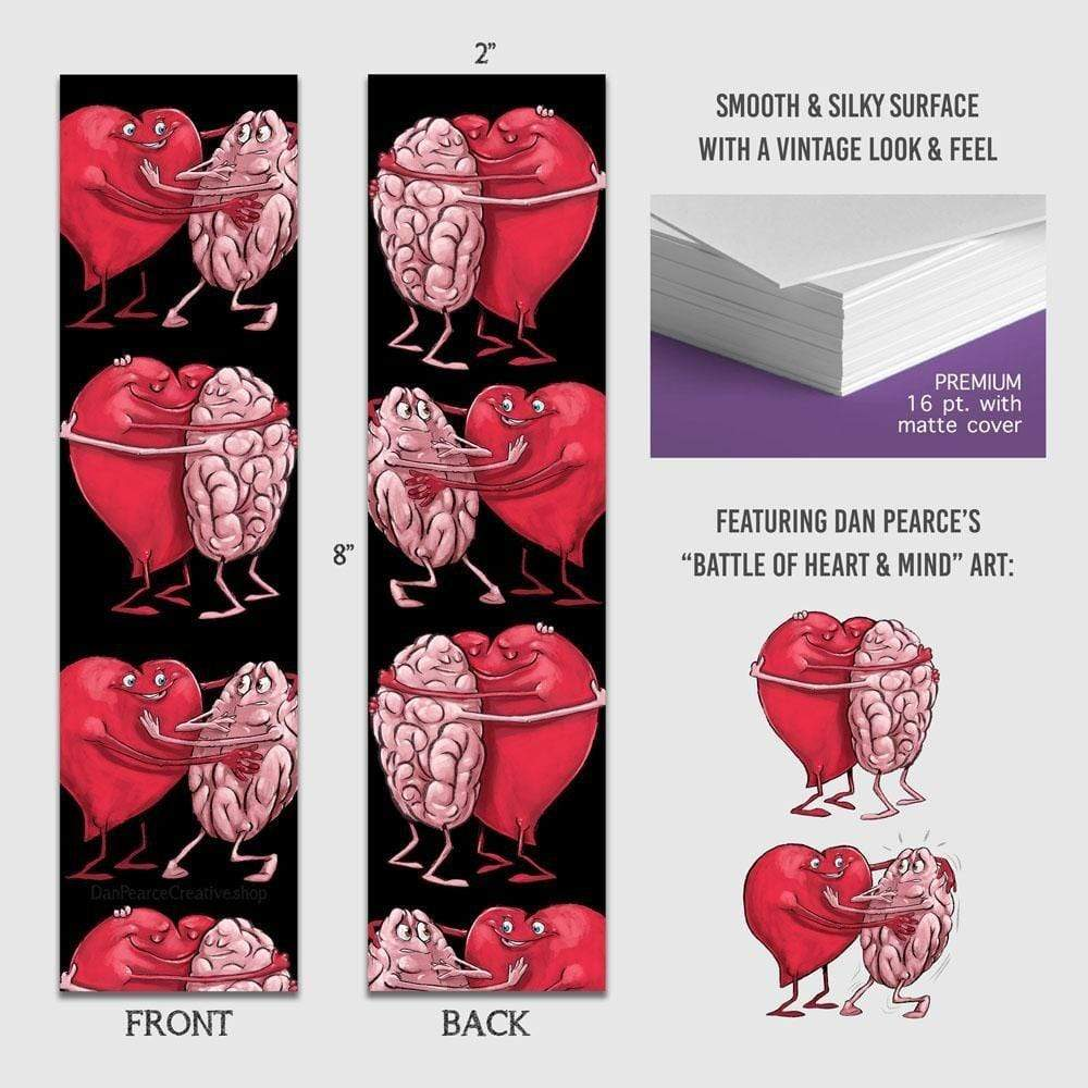 Balance of the Heart & Mind - Premium Bookmark - Dan Pearce Sticker Shop