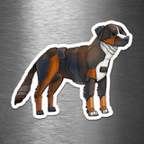 Bernese Mountain Dog Robot - Vinyl Sticker - Dan Pearce Sticker Shop