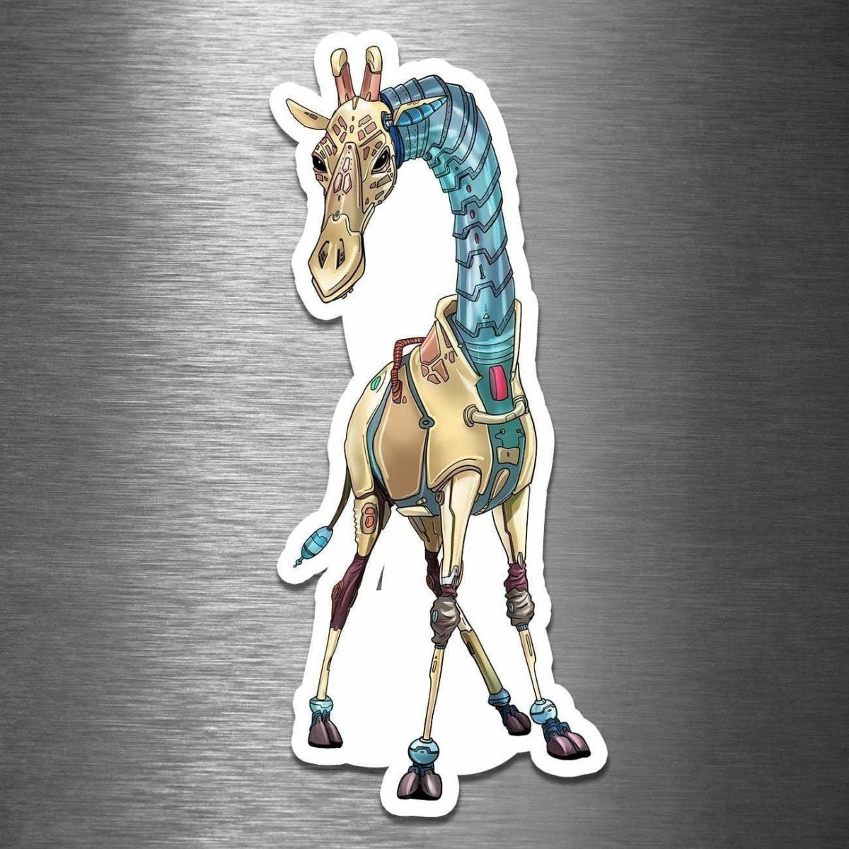Giraffe Robot - Vinyl Sticker - Dan Pearce Sticker Shop