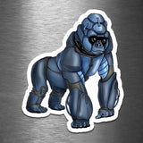 Gorilla Robot - Vinyl Sticker - Dan Pearce Sticker Shop