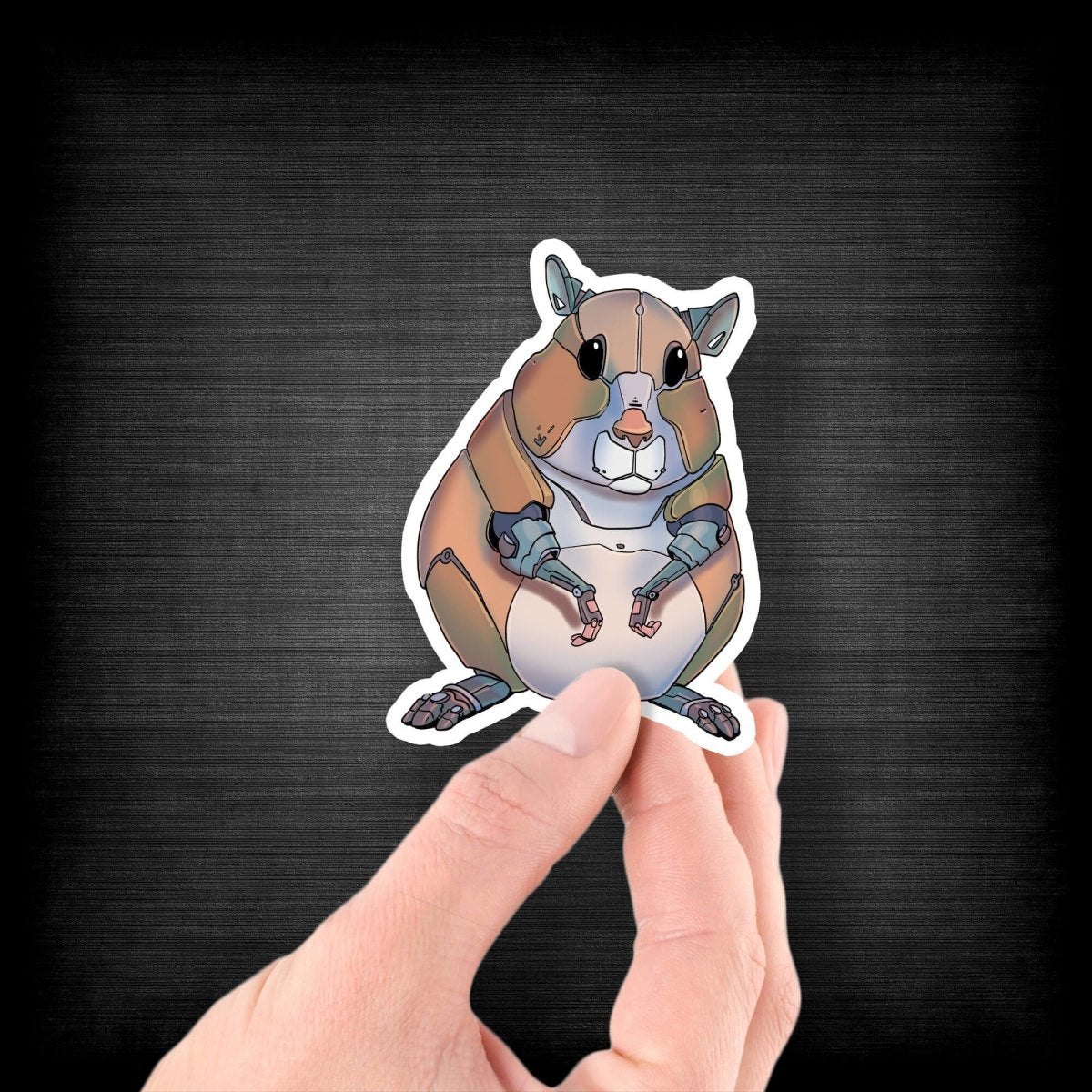 Hamster Robot - Vinyl Sticker - Dan Pearce Sticker Shop