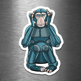 Hear No Evil Monkey Robot - Vinyl Sticker - Dan Pearce Sticker Shop