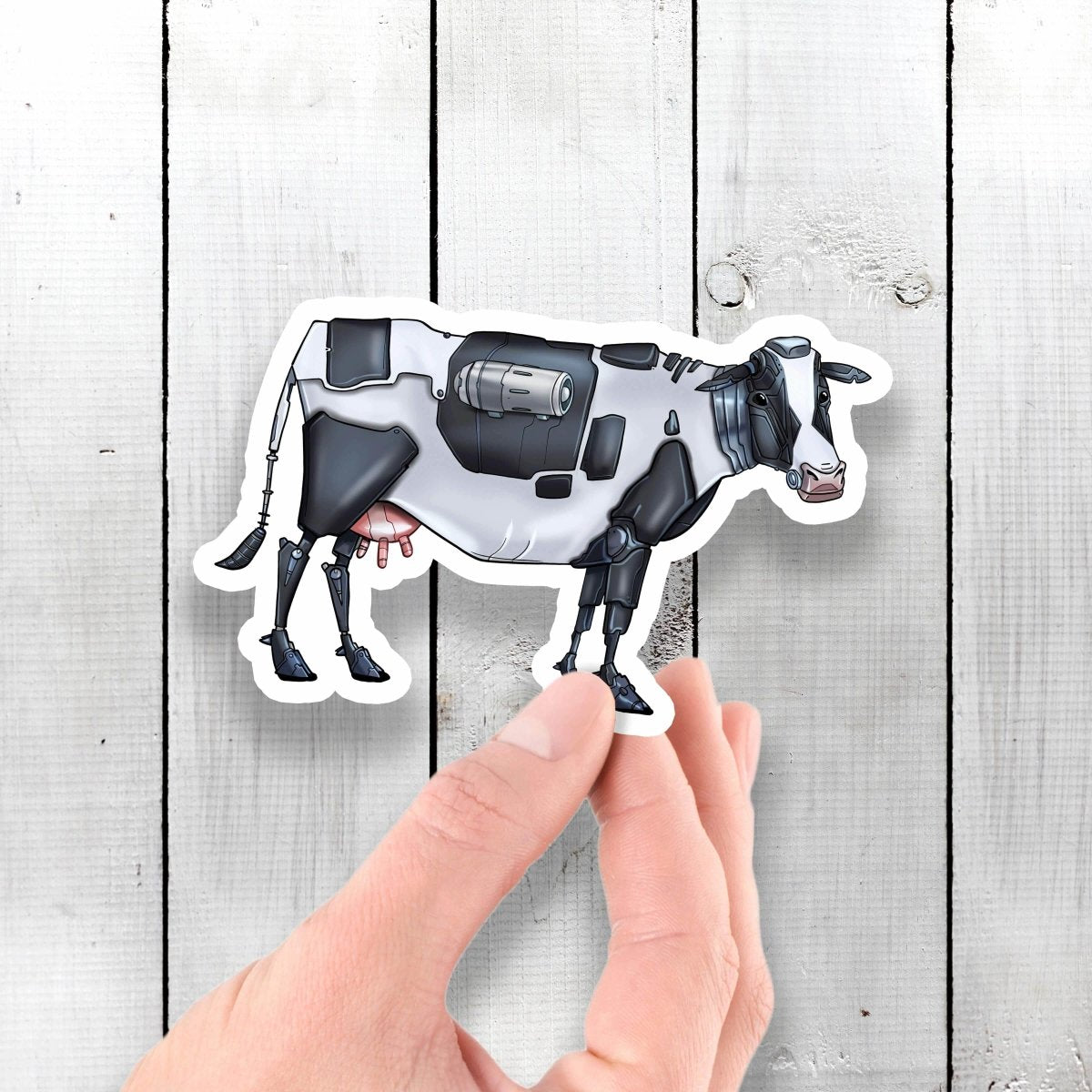 Holstein Cow Robot - Vinyl Sticker - Dan Pearce Sticker Shop
