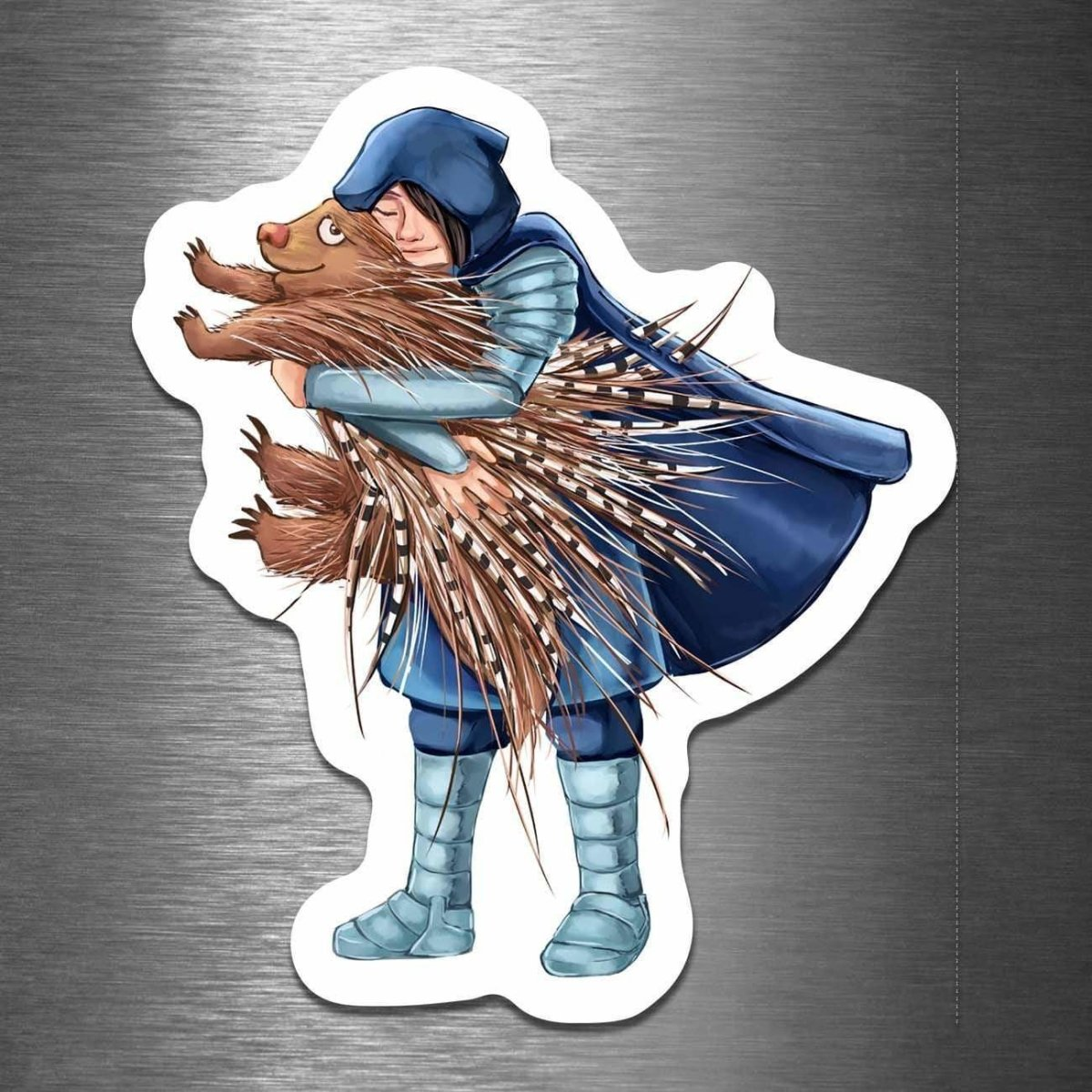 How to Hug a Porcupine - Vinyl Sticker - Dan Pearce Sticker Shop