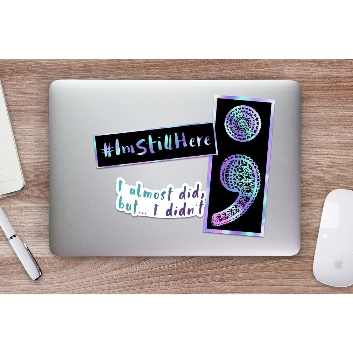 I'm Still Here (#1) - Hologram Sticker - Dan Pearce Sticker Shop