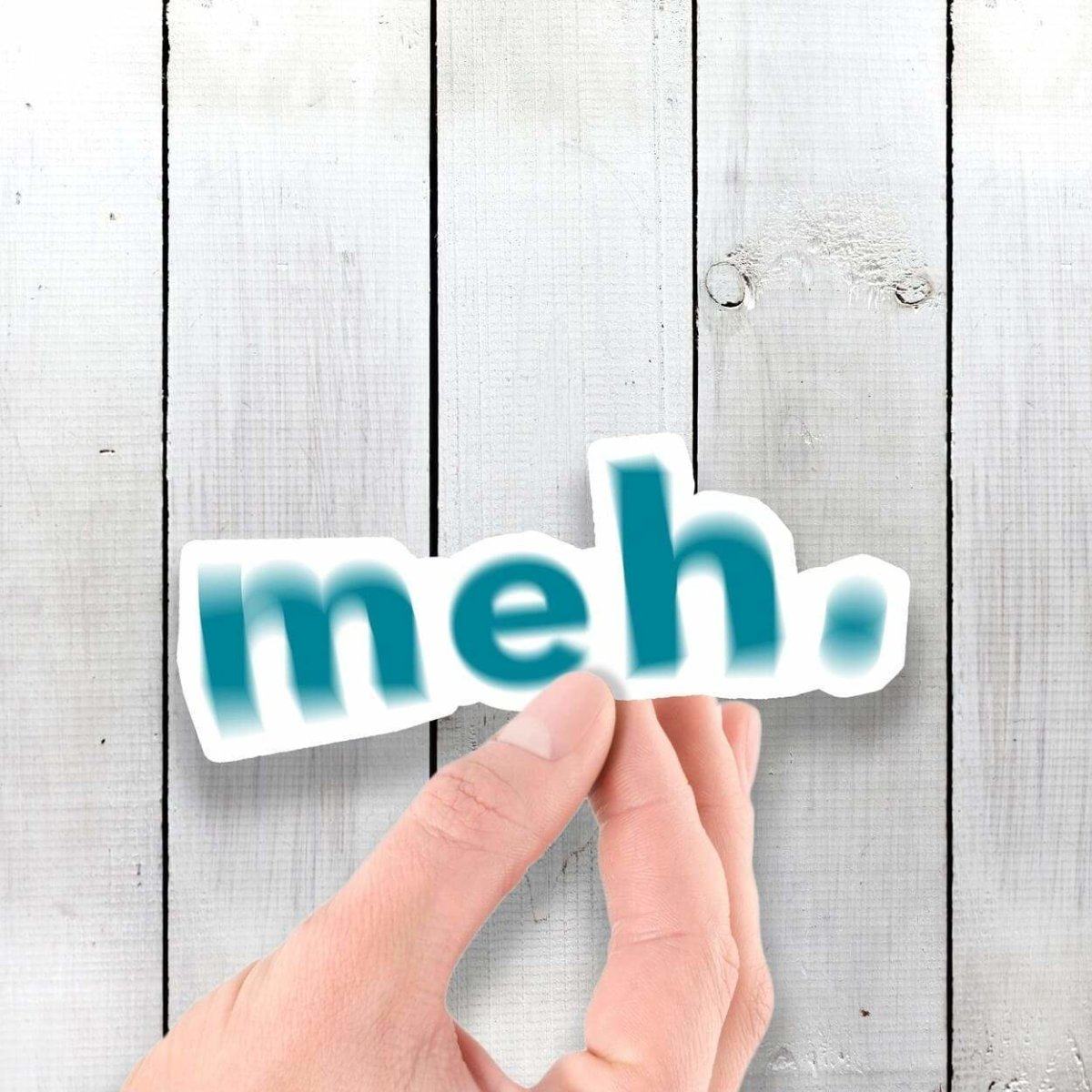 MEH - Vinyl Sticker - Dan Pearce Sticker Shop