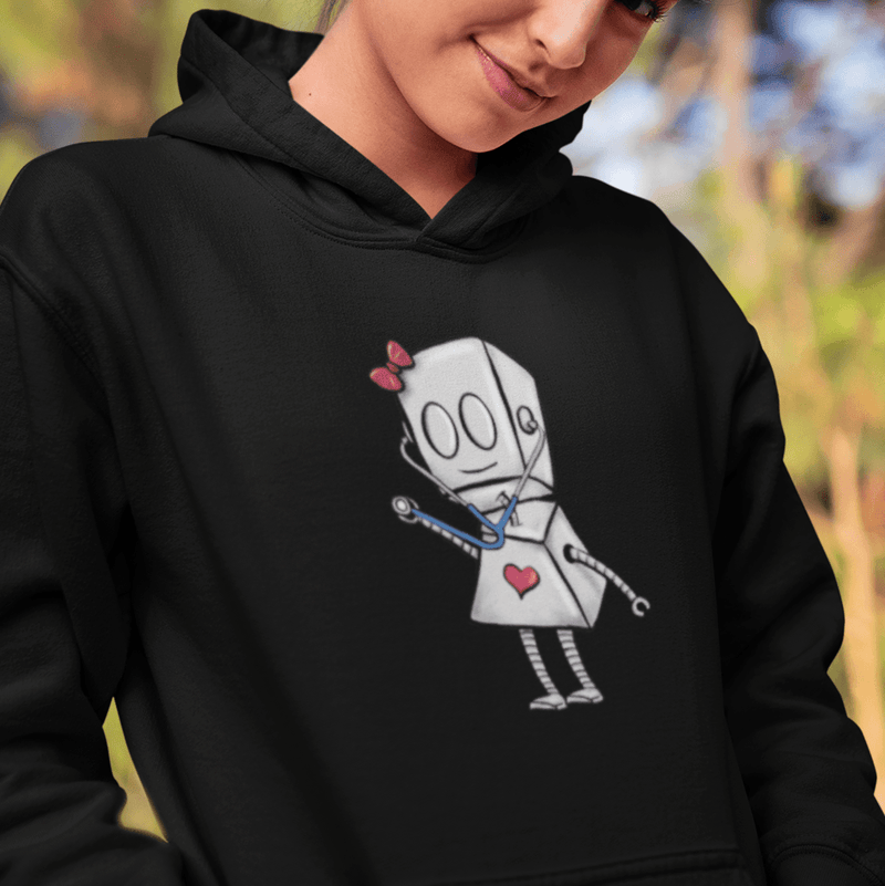Nurse Adorable Robot - PREMIUM Champion® Hoodie - Dan Pearce Sticker Shop