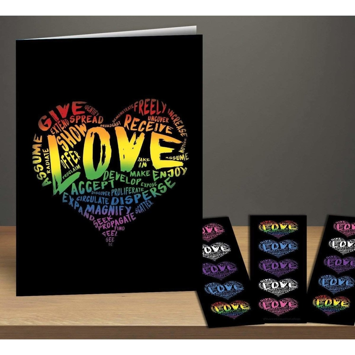 Official LOVE Greeting Card & Bookmark Combo Pack - Dan Pearce Sticker Shop