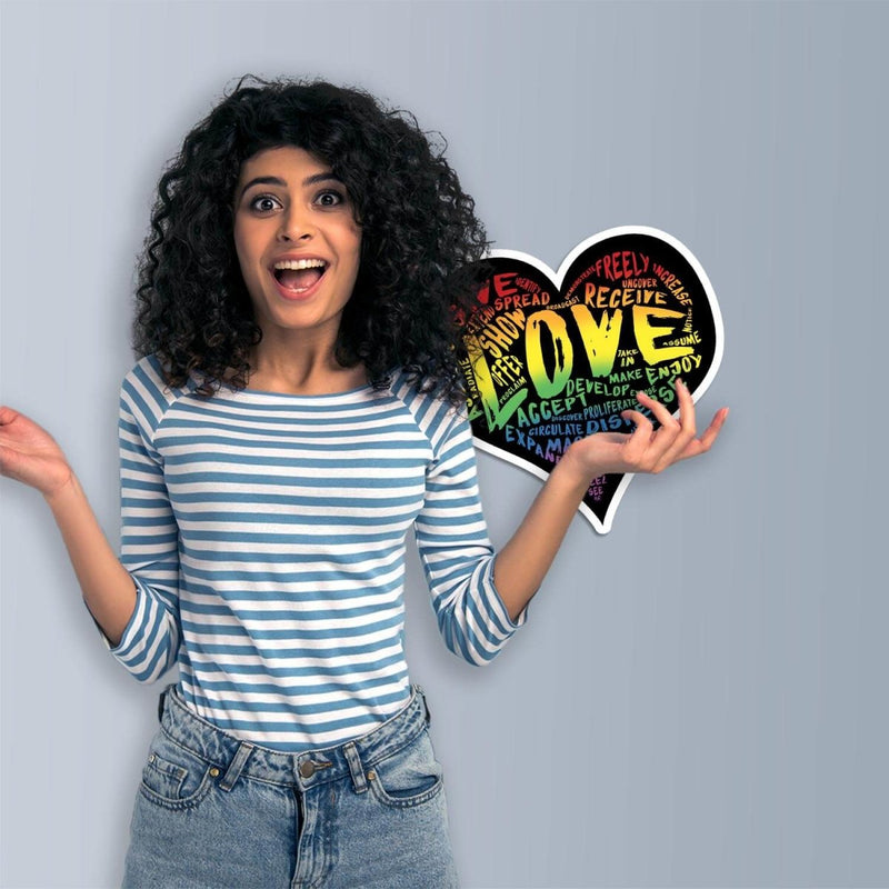 "Official ""LOVE"" (Original Rainbow) Vinyl Sticker - Dan Pearce Sticker Shop"