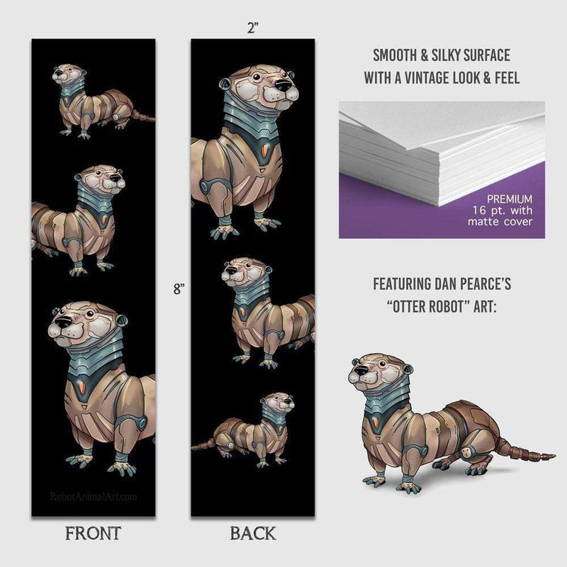Otter Robot - Premium Bookmark - Dan Pearce Sticker Shop