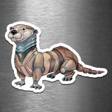 Otter Robot - Vinyl Sticker - Dan Pearce Sticker Shop