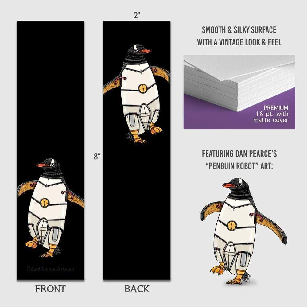 Penguin Robot - Premium Bookmark - Dan Pearce Sticker Shop