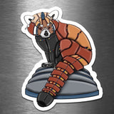 Red Panda Robot - Vinyl Sticker - Dan Pearce Sticker Shop