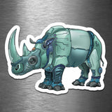 Rhinoceros Robot - Vinyl Sticker - Dan Pearce Sticker Shop