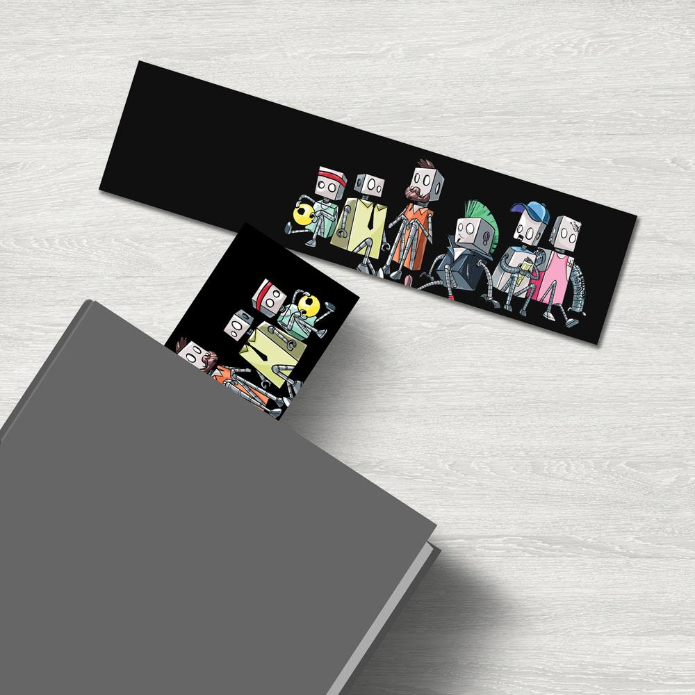 Robot Friends - Premium Bookmark - Dan Pearce Sticker Shop