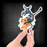 The Donkey & The Fish for People Who Enjoy Card Games - Vinyl Sticker - Dan Pearce Sticker Shop