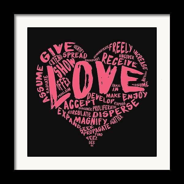 "The Official Fine Art ""LOVE"" Print (Pink on Black) - Dan Pearce Sticker Shop"