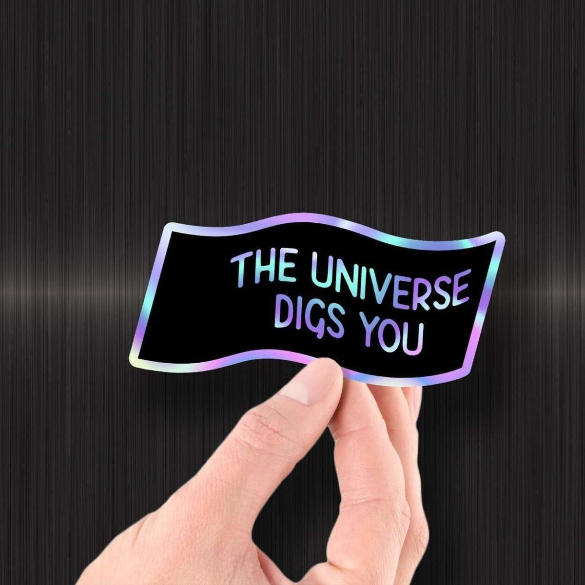 The Universe Digs You - Hologram Sticker - Dan Pearce Sticker Shop