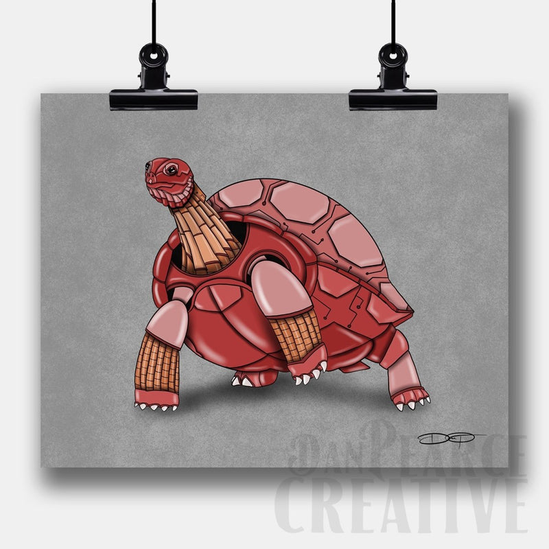 Tortoise Robot Fine Art Print - Dan Pearce Sticker Shop
