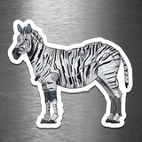 Zebra Robot - Vinyl Sticker - Dan Pearce Sticker Shop