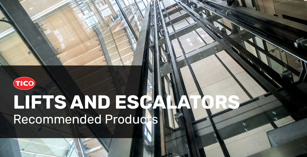 Recommended vibration products for lifts and escalators