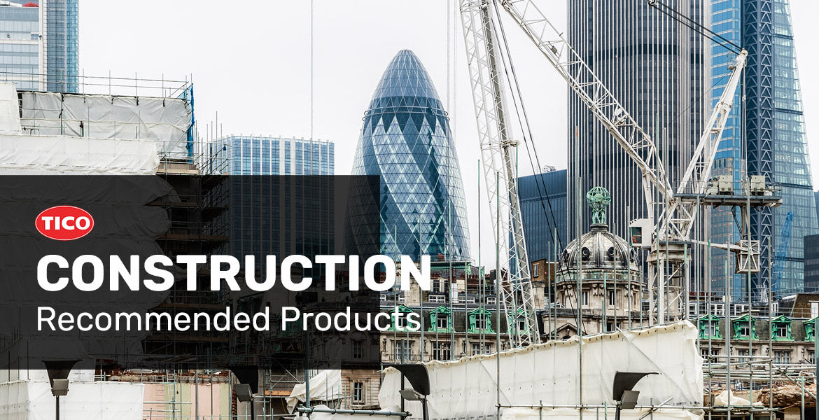 TICO recommended products for the construction industry