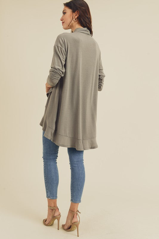 Averie Wrap Ruffle Cardigan - (final sale item)