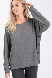 Stephanie Button Side Sweater