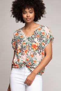 Minni Floral Drop Shoulder Crop