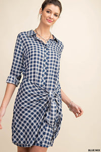 Alexia Plaid Shirt Dress
