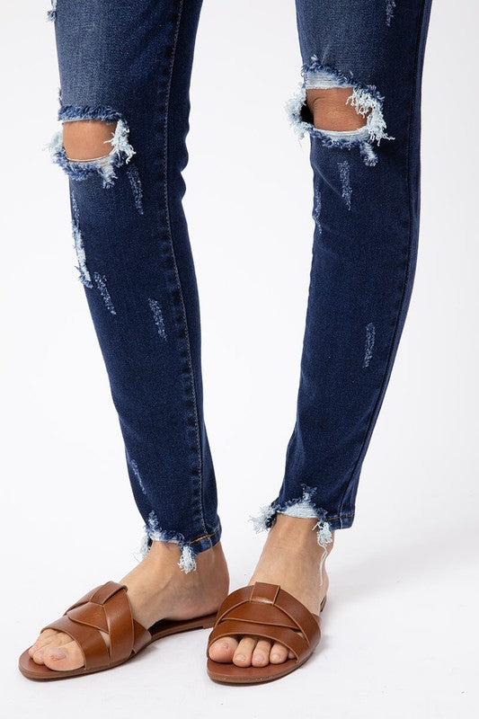 Mid Rise Distressed Super Skinny - KC5055KD