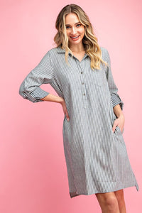 Classic Button Down Shirt Dress