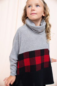 Buffalo Checked Poncho - Kids