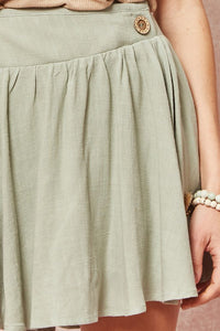 Briana Asymmetrical Yoke Skirt