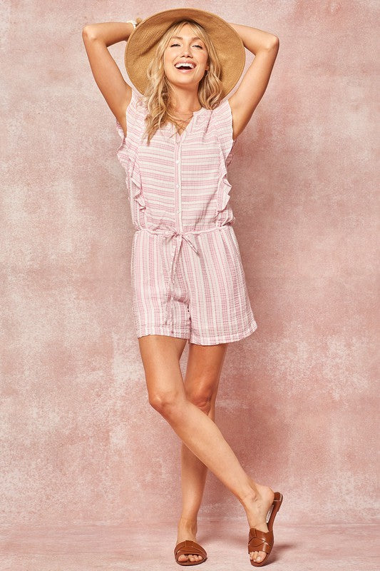 Annabella Striped Romper