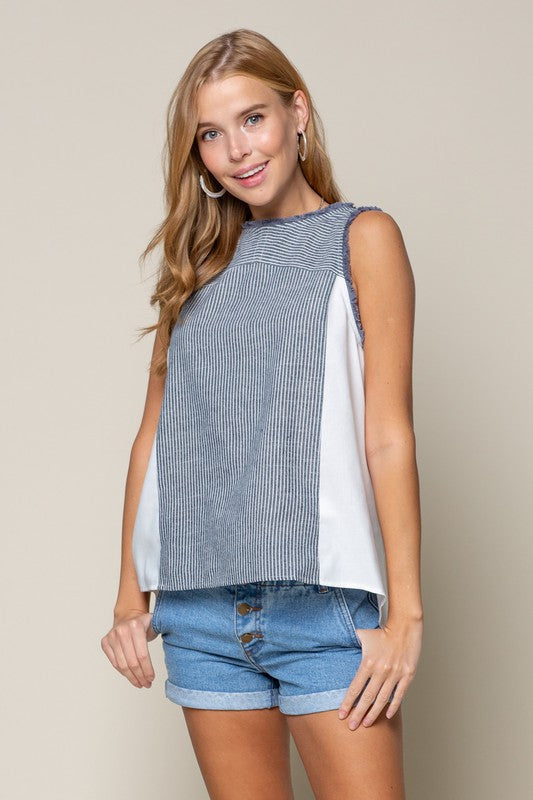 All in Chambray Tank