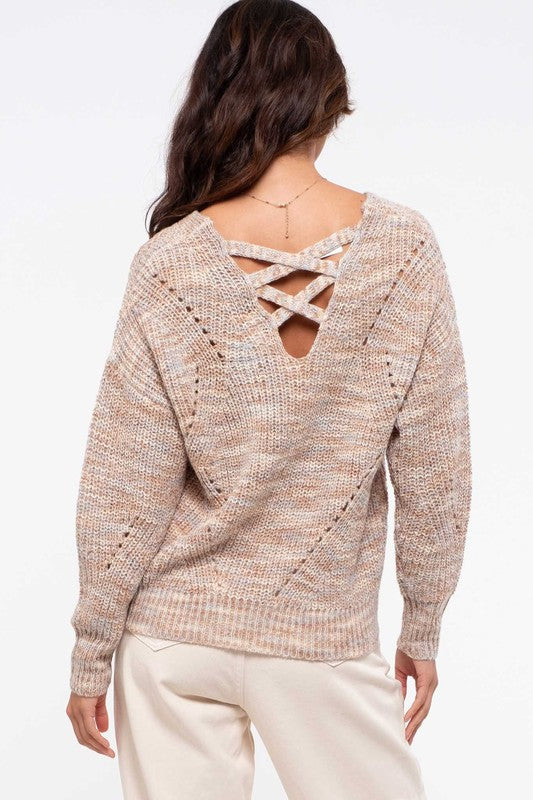 Knit Marbled Sweater