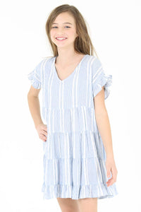 Kid's Babydoll Striped Dress
