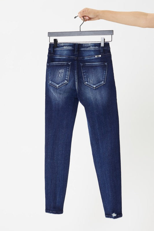 High Rise Hem Distressed Super Skinny - KC7363D